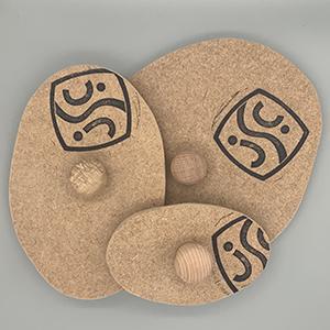 3 x rustic oval press mould set