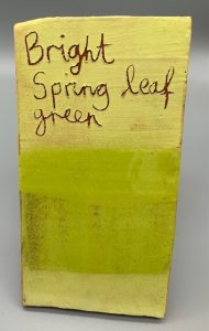Bright Spring Leaf Green decorating slip for sale