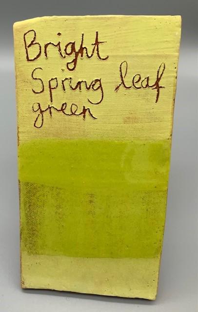 Bright Spring Leaf Green decorating slip for sale