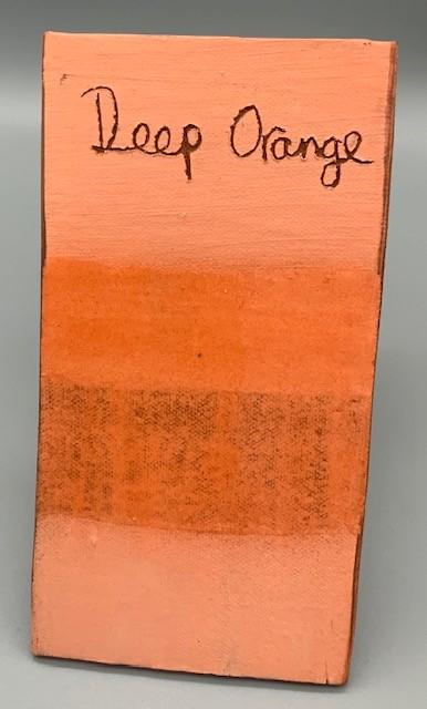 deep orange decorating slip for sale