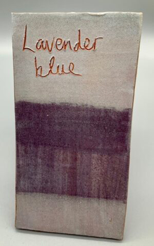lavender blue decorating slip