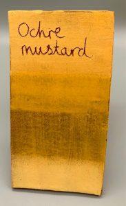 Ochre Mustard decorating slip for sale