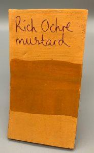 rich ochre mustard decorating slip for sale
