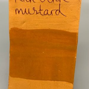 rich ochre mustard decorating slip for sale