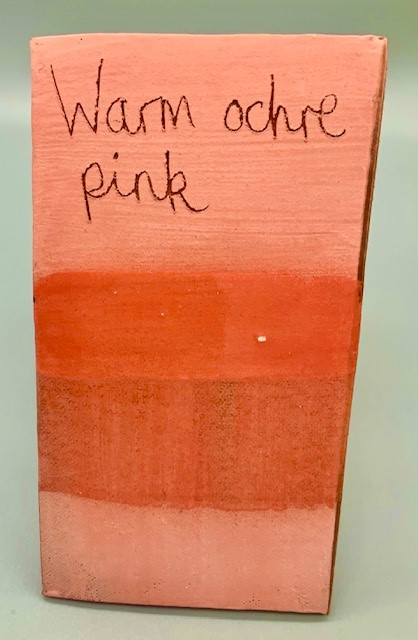 warm ochre pink decorating slip for sale